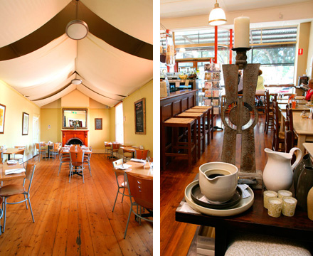 Image: Left: the restaurant at the Holgate Brewery, Woodend